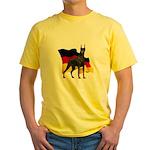 German Flag Doberman Yellow T-Shirt