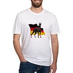 German Flag Doberman Fitted T-Shirt
