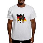 German Flag Doberman Light T-Shirt