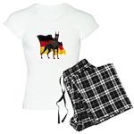 German Flag Doberman Women's Light Pajamas
