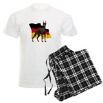 German Flag Doberman Men's Light Pajamas