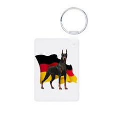 German Flag Doberman Keychains
