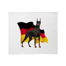 German Flag Doberman Throw Blanket