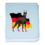 German Flag Doberman baby blanket