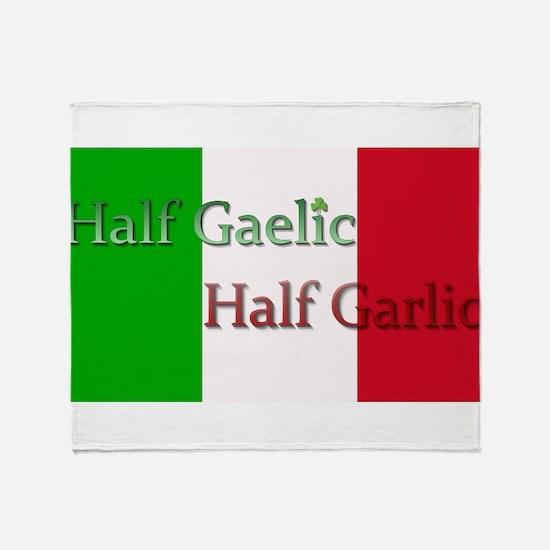 Half Gaelic Half Garlic Throw Blanket