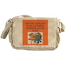 line or square dance Messenger Bag