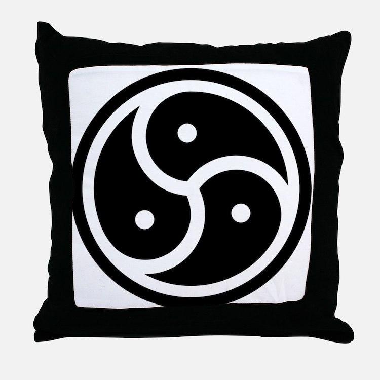Cute Bdsm symbol Throw Pillow