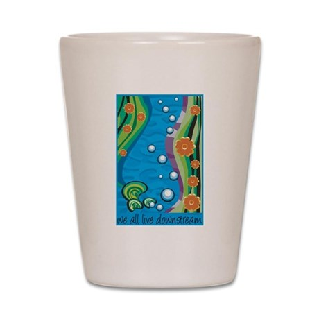 Water Pollution Shot Glass