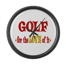 Golf Love Large Wall Clock