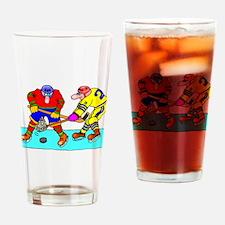 Cute Olympic hockey pucks Drinking Glass