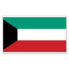 Kuwait Flag Rectangle Decal