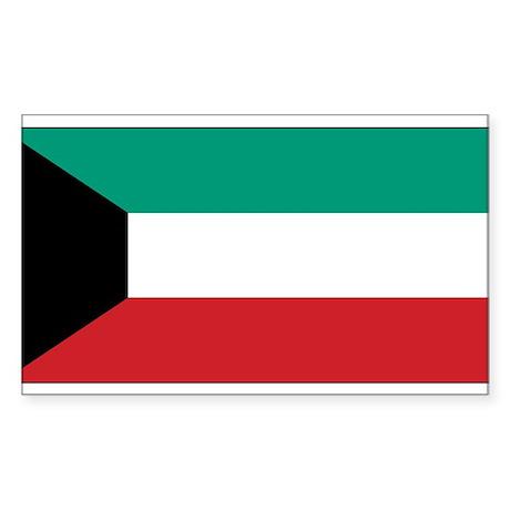 Kuwait Flag Rectangle Sticker