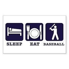 Sleep eat baseball Decal