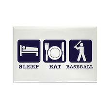 Sleep eat baseball Rectangle Magnet