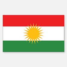 Kurdistan Flag Rectangle Decal