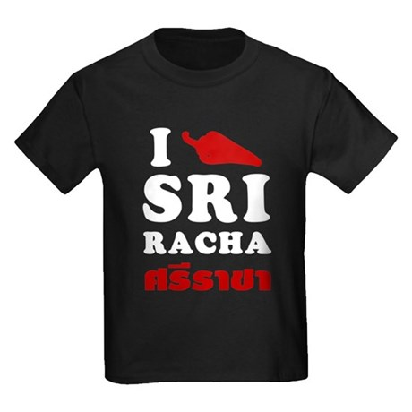 I Love Sriracha Kids Dark T-Shirt