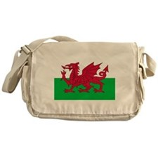 Welsh flag of Wales Messenger Bag