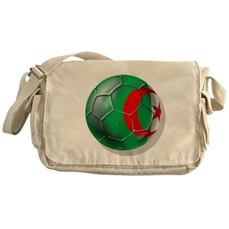 Algerian flag soccer ball Messenger Bag