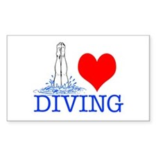 Love (heart) Diving Decal