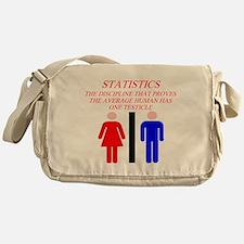 funny math statistics Messenger Bag