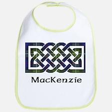 Knot-MacKenzie htg grn Cotton Baby Bib