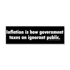 Inflation Car Magnet 10 x 3