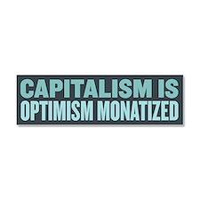 Capitalism Optimism Car Magnet 10 x 3