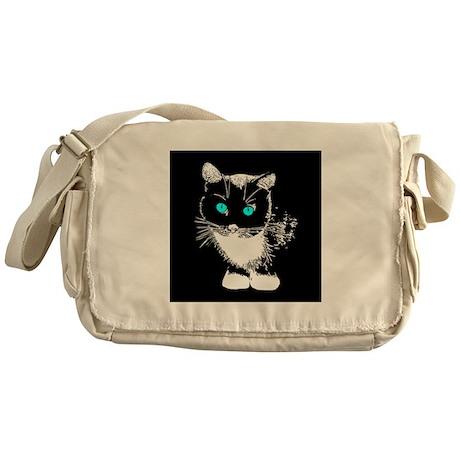 Blue Eyed Cat Messenger Bag