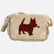 Scottish Terrier Tartan Messenger Bag