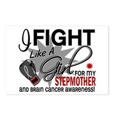 Fight Like A Girl For My Brain Cancer Postcards (P