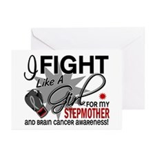 Fight Like A Girl For My Brain Cancer Greeting Car