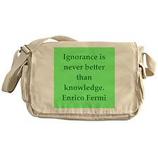 Enrico Fermi quotes Messenger Bag