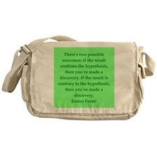 Enrico Fermi quotes Messenger Bag