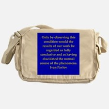 Ivan Pavlov quotes Messenger Bag