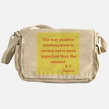 b f skinner quotes Messenger Bag