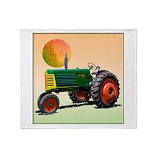 Funny Tractors Throw Blanket