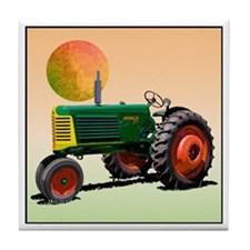 Funny Oliver tractor Tile Coaster