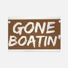 Gone Boatin' (Boating) Rectangle Magnet