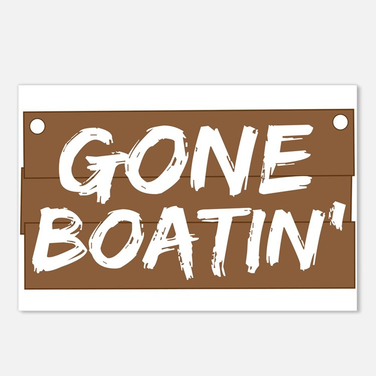 Gone Boatin' (Boating) Postcards (Package of 8)