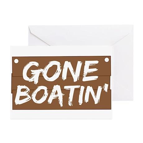 Gone Boatin' (Boating) Greeting Cards (Pk of 20)