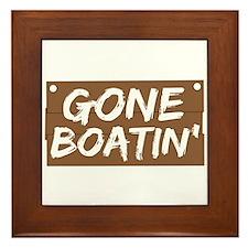Gone Boatin' (Boating) Framed Tile