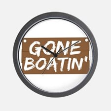Gone Boatin' (Boating) Wall Clock