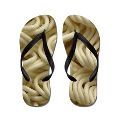 Ramen Noodle Flip Flops