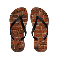 Hit A Brick Wall Flip Flops