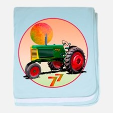 Cute Oliver tractor baby blanket