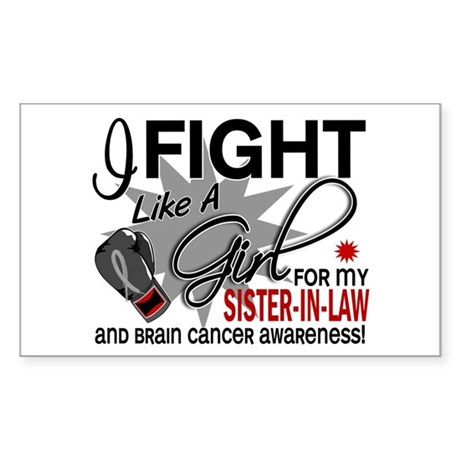 Fight Like A Girl For My Brain Cancer Sticker (Rec