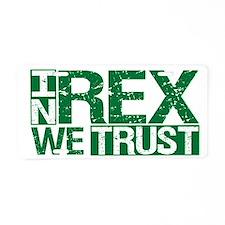 In Rex We Trust Aluminum License Plate