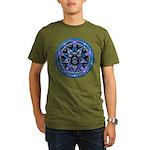 Water Elemental Pentacle Organic Men's T-Shirt (da