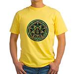 Water Elemental Pentacle Yellow T-Shirt