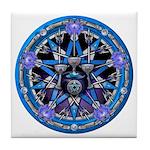 Water Elemental Pentacle Tile Coaster